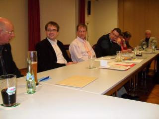 Erhard Henrich, David Rauber, Jürgen Mock und Thorsten-Schäfer Gümbel